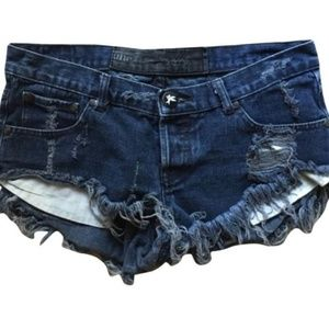 One Teaspoon 'The Defender' Jean Shorts